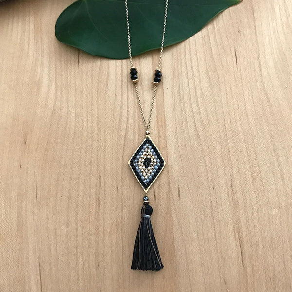 Milestone Tassel Necklace -Black, Thailand