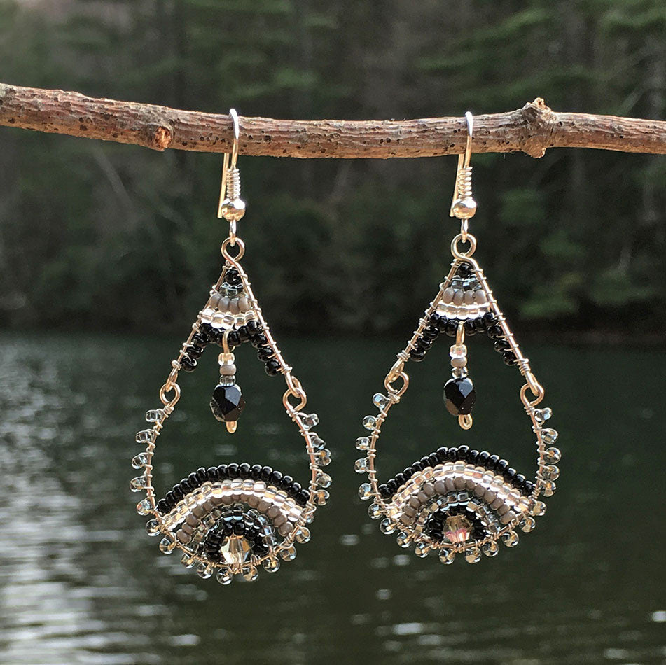 Fair trade beaded earrings handmade in Guatemala