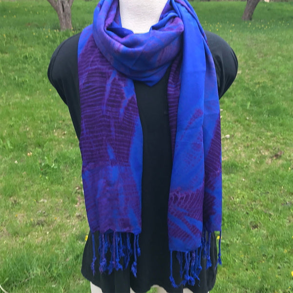 Safe Refuge Scarf/Wrap - Blue and Purple, Kenya
