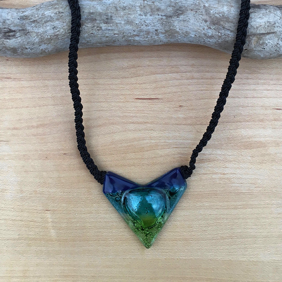 Straight to the Heart Necklace - Blue/Green, Guatemala