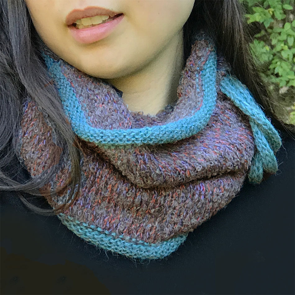 Fair trade alpaca neck warmer handmade in Peru