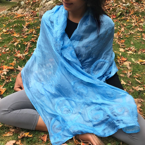 Fair trade silk scarf