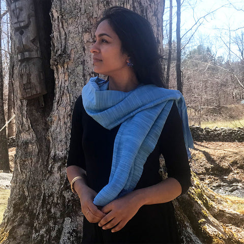 Fair trade silk scarf shawl handmade by artisans in Vietnam