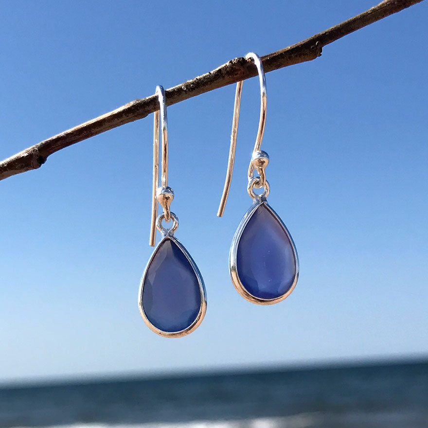 Resiliency Teardrop Earrings, Sterling Silver, India