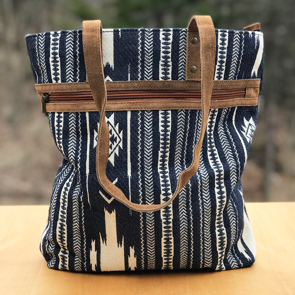 Fair trade tote bag handmade by artisans in India
