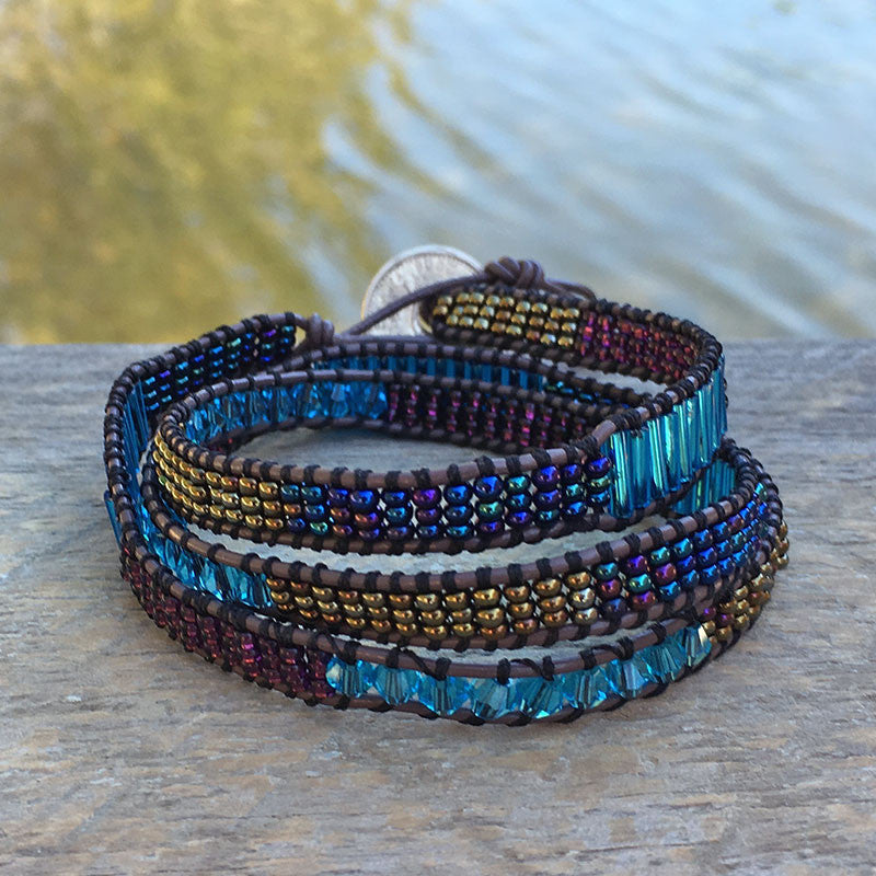 Eternally Loved Wrap Bracelet - Blue, Guatemala