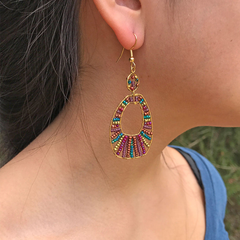 Bonita Hoop Earrings, Guatemala
