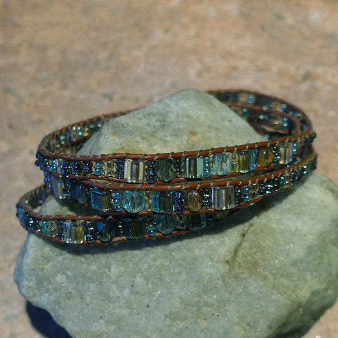 Fair trade beaded bracelet handmade by women in Guatemala