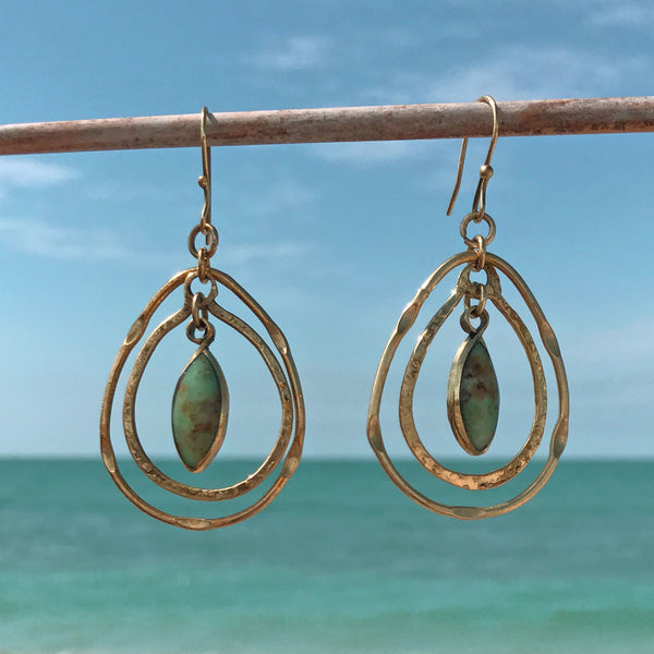 fair trade brass earrings handmade by women in Chile