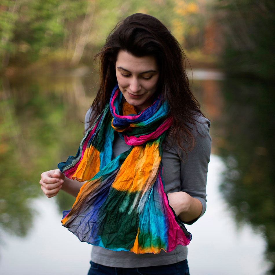 Over the Rainbow Crinkle Scarf, India
