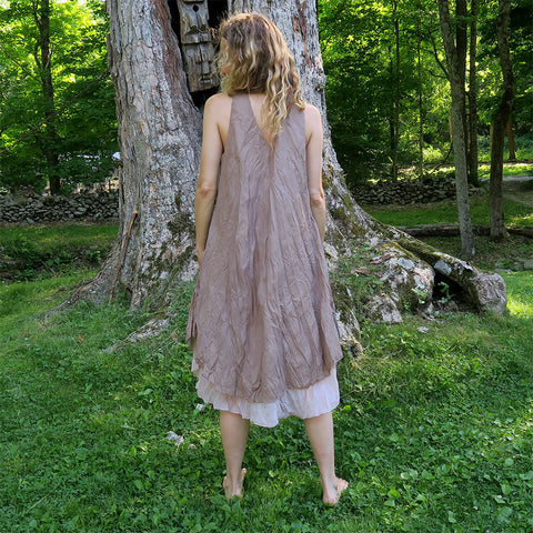 Fair trade cotton summer dress handmade in Thailand
