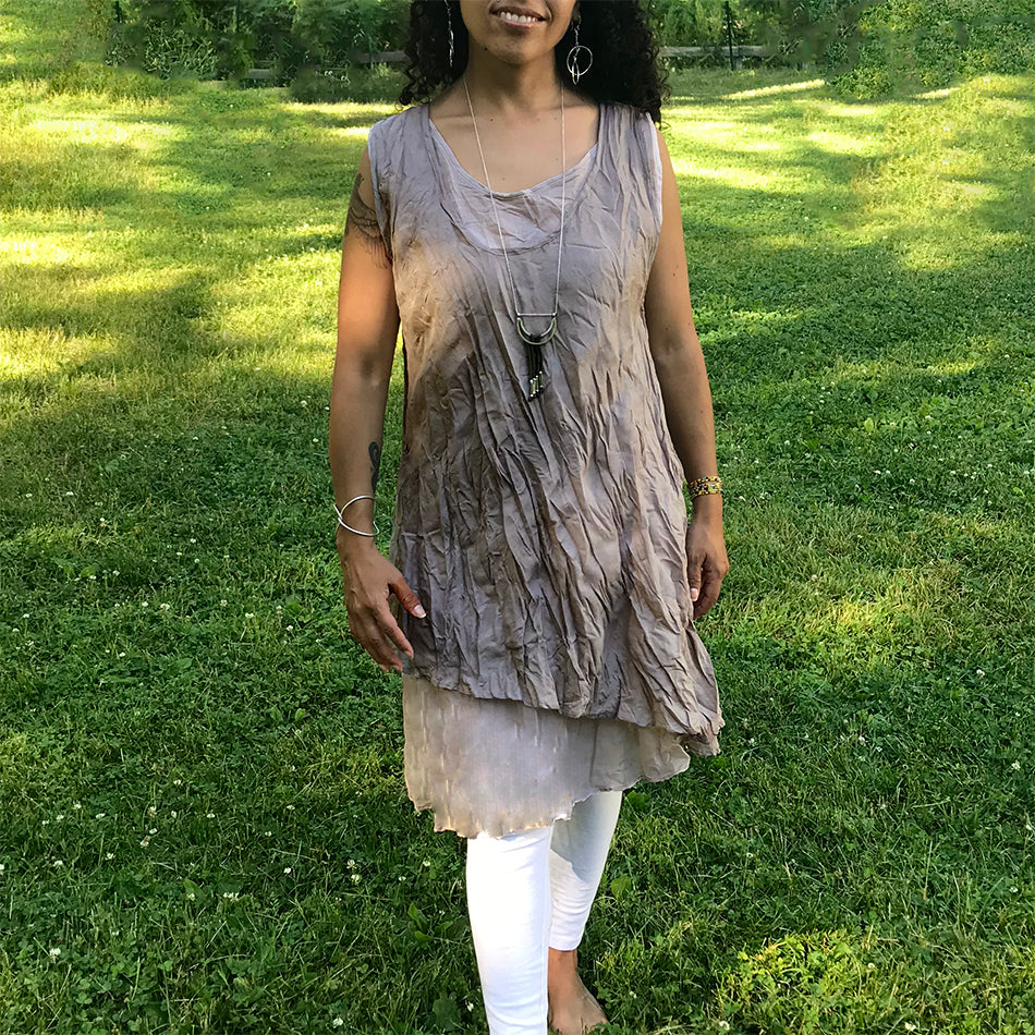 Fair trade cotton dress tunic handmade in Thailand