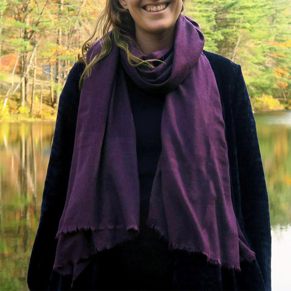 Cashmere fair trade scarf handmade in Nepal