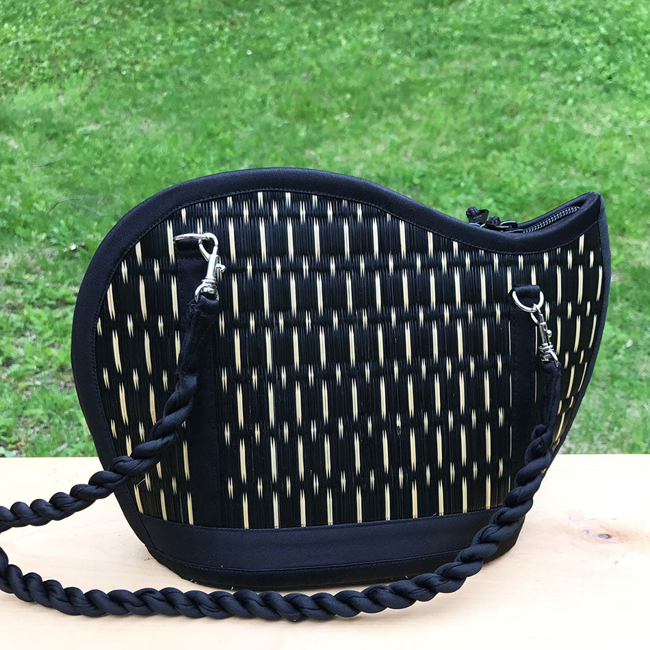 Catch the Wave Grass Purse - Black Speckled, Cambodia