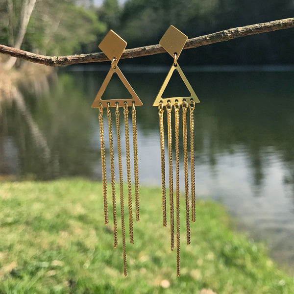 Chime Along Earrings - Gold, India