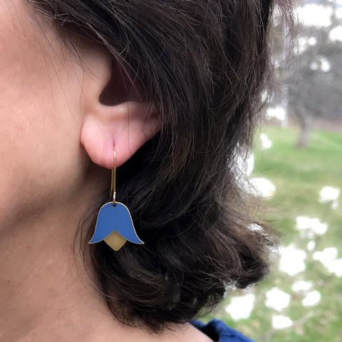 Columbine Flower Earrings, Peru