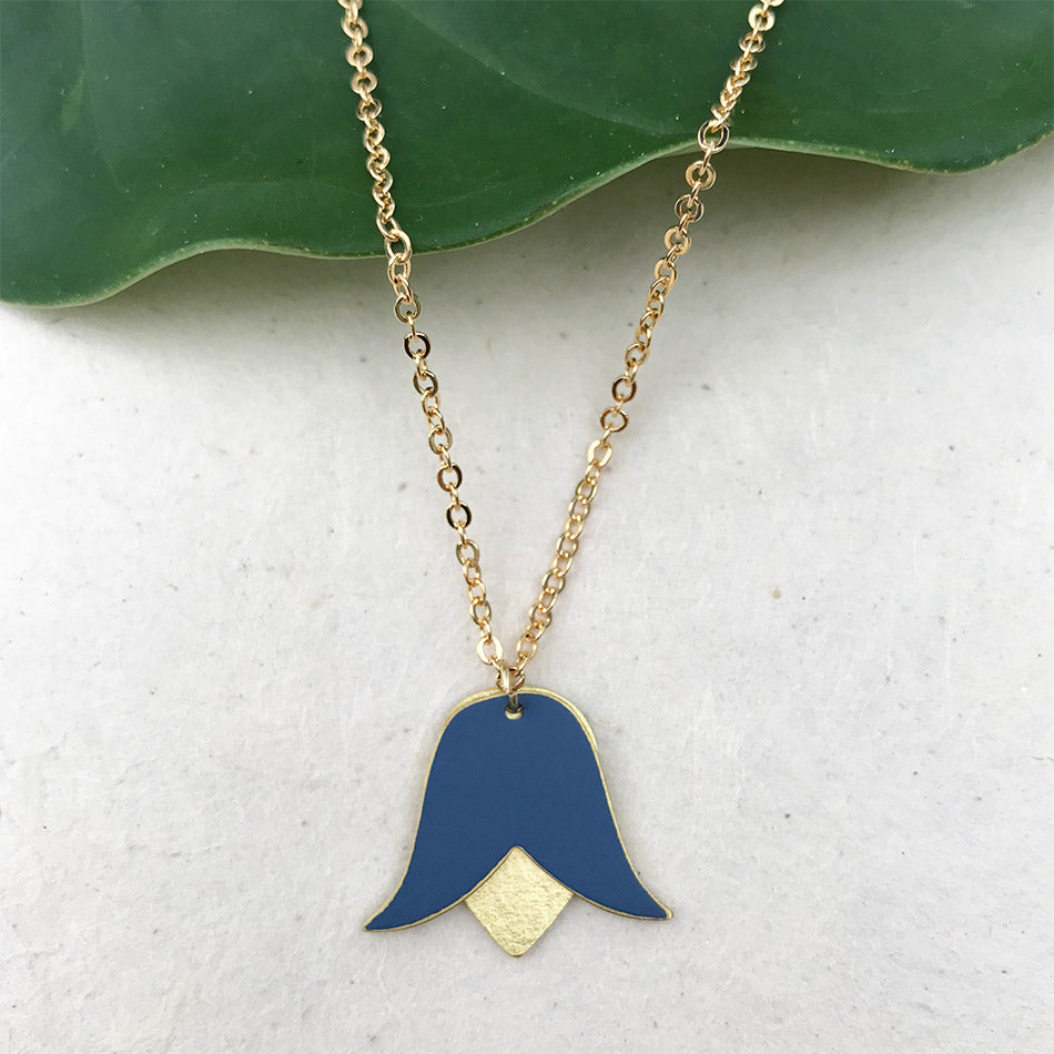 Fair trade columbine necklace handmade by women in Peru