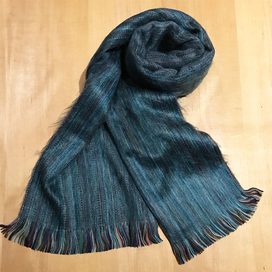 Luxurious Alpaca Scarf - Denim, Ecuador