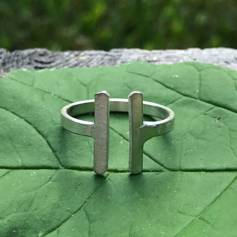 Parallel Bar Ring - Silver, India