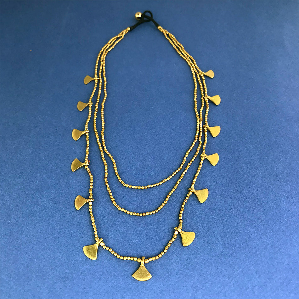 Fair trade brass statement necklace