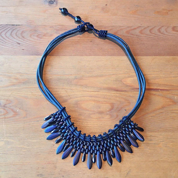 Sofia Necklace - Blue, Guatemala