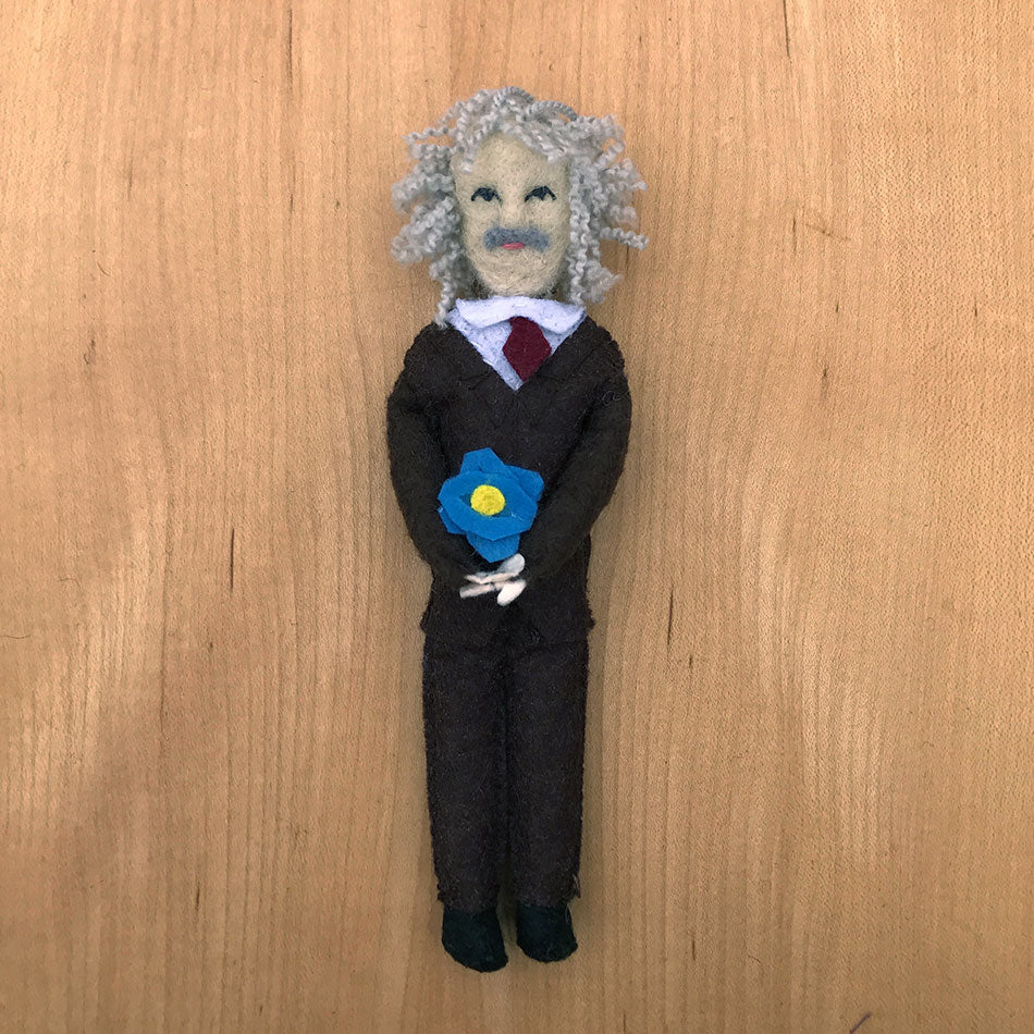 Albert Einstein fair trade ornament handmade by women artisans.