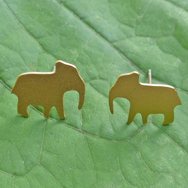 Lucky Elephant Earrings, India