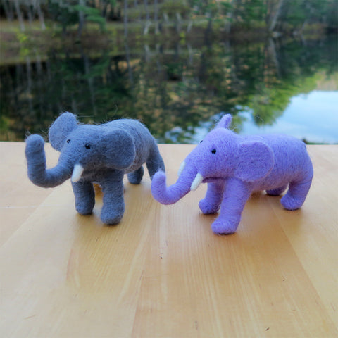 Fair trade felt elephants handmade in Guatemala