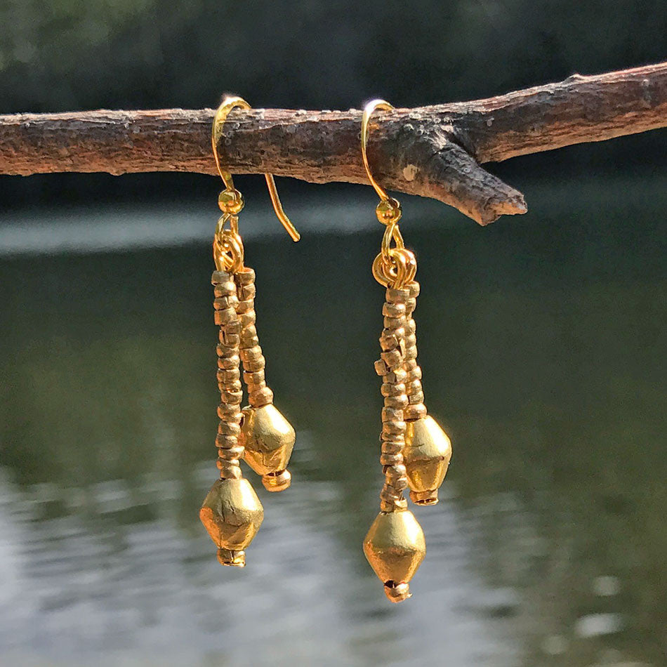 fair trade earrings made from bullet casings in Ethiopia