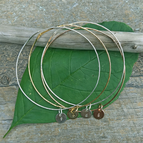 Fair trade bangle bracelets sterling silver handmade by survivors of human trafficking