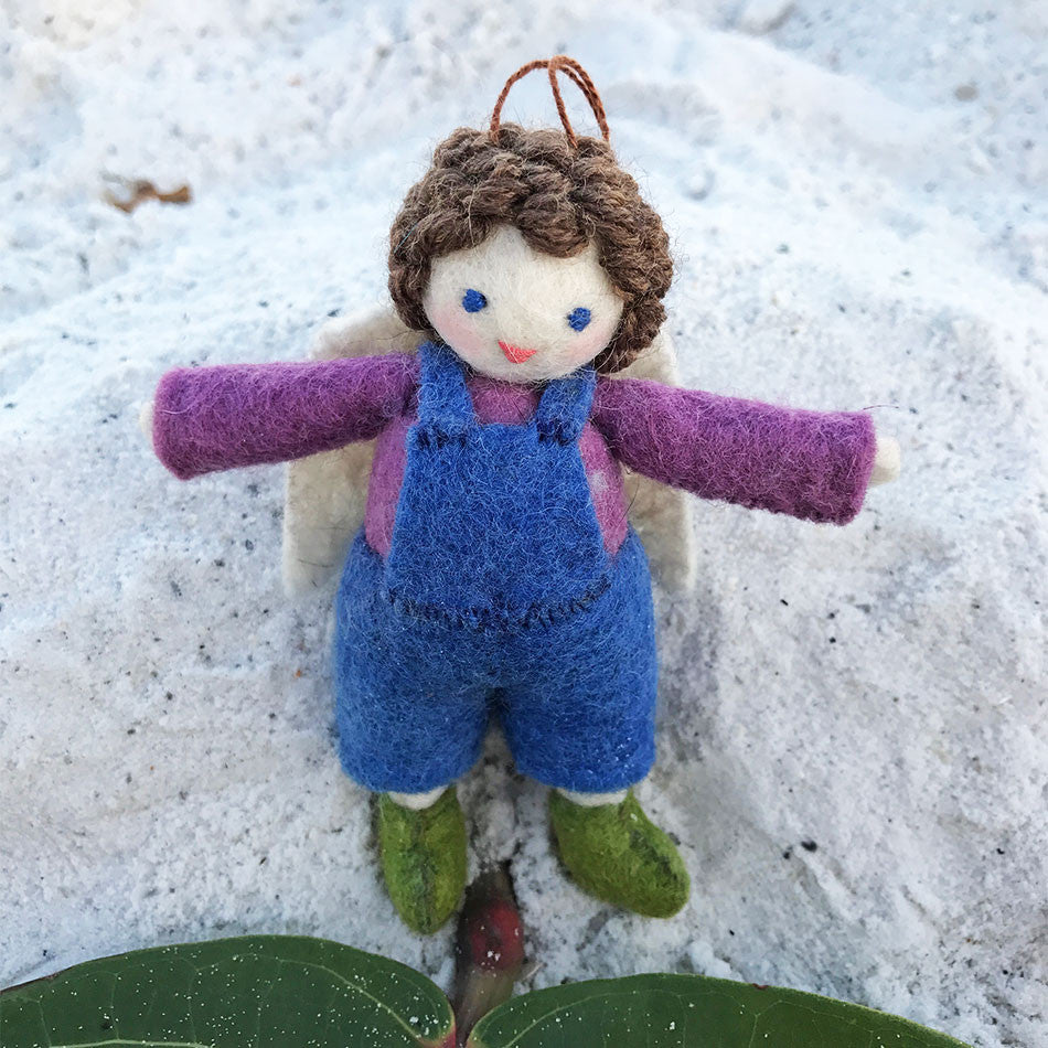 fair trade felted angel handmade in Kyrgyzstan