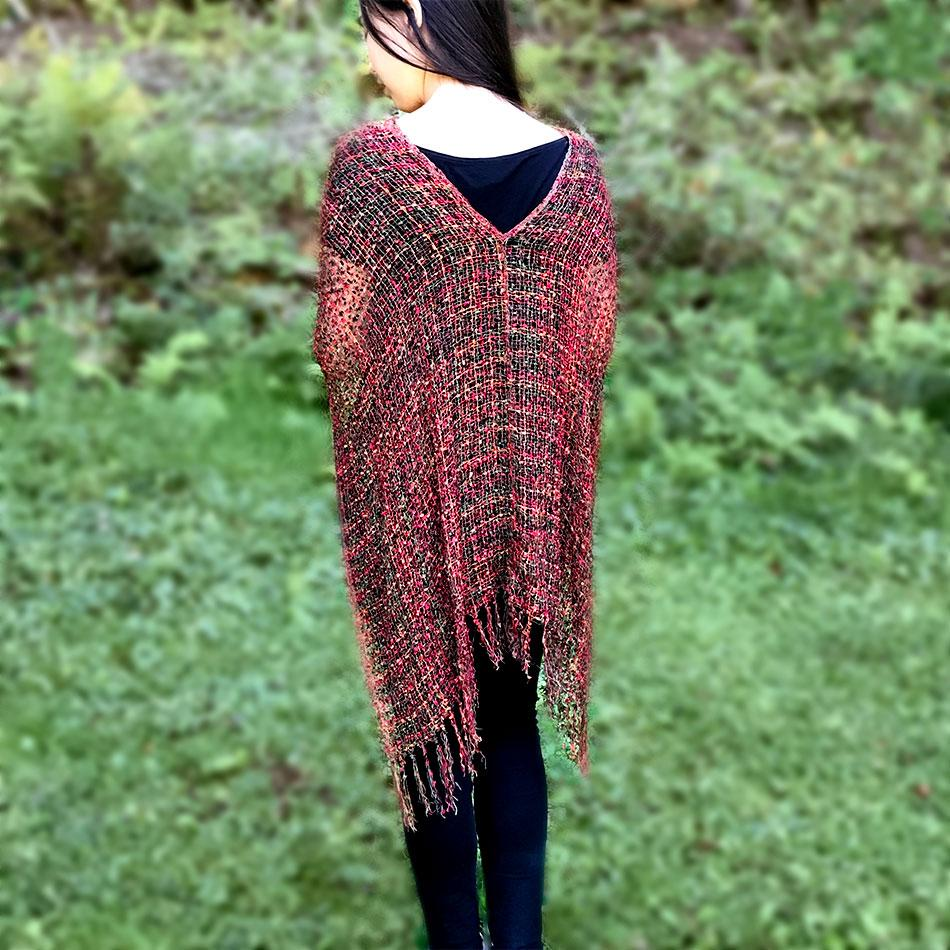 Fair trade shrug poncho handmade in Nepal