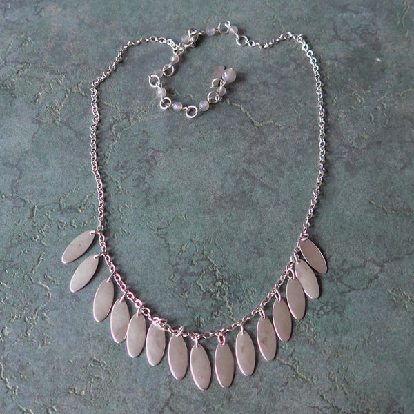 Falling Leaves Necklace - Silver, Guatemala