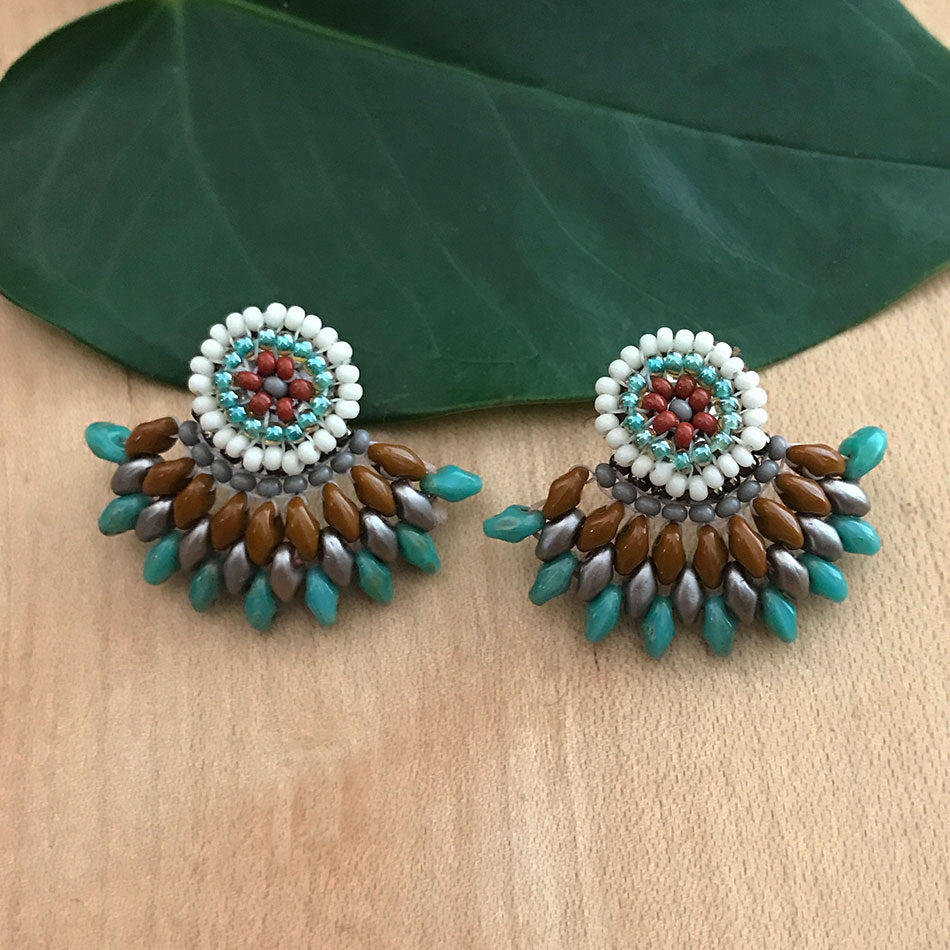 Fan Earrings - Summer, Guatemala