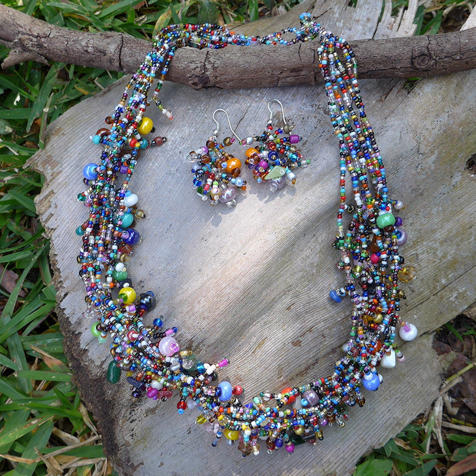 Fair trade beaded jewelry handmade in Guatemala