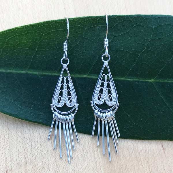 Handmade sterling silver fair trade earrings from Thailand