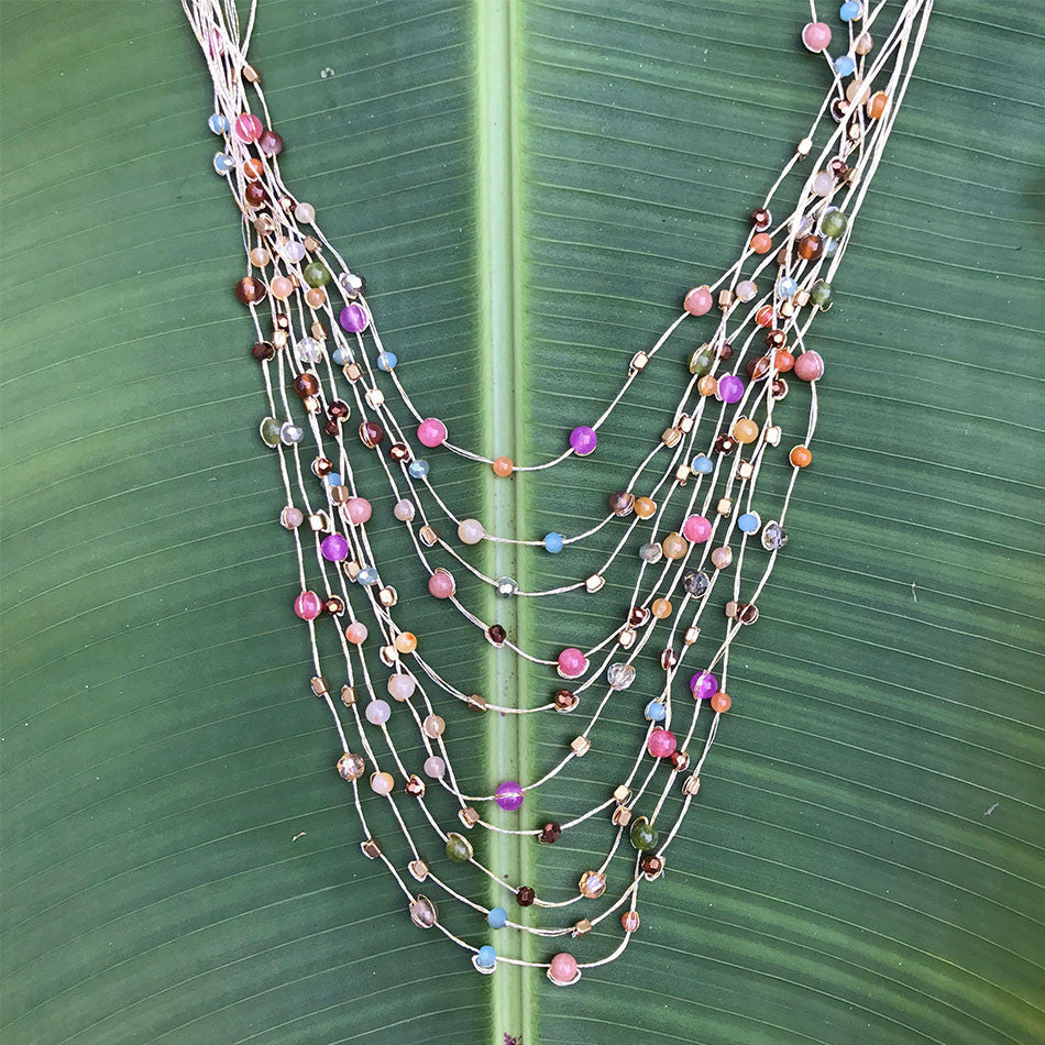 Fair trade necklace made by women in Thailand