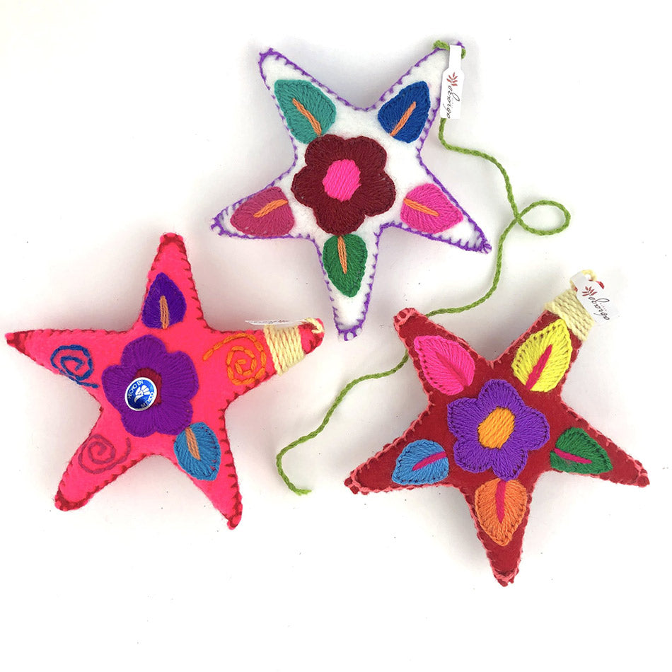 Fair trade handmade star ornaments