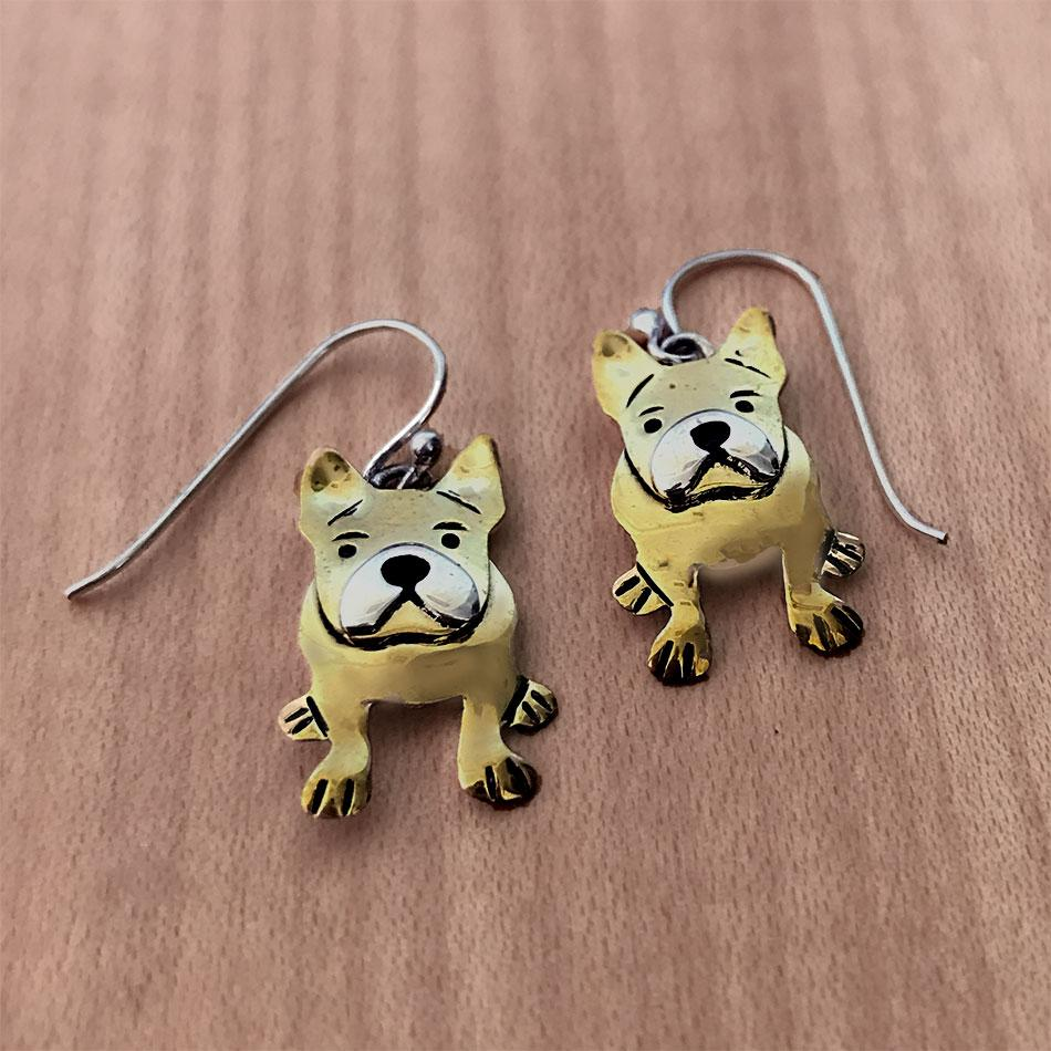 French Bulldog frenchie fair trade earrings