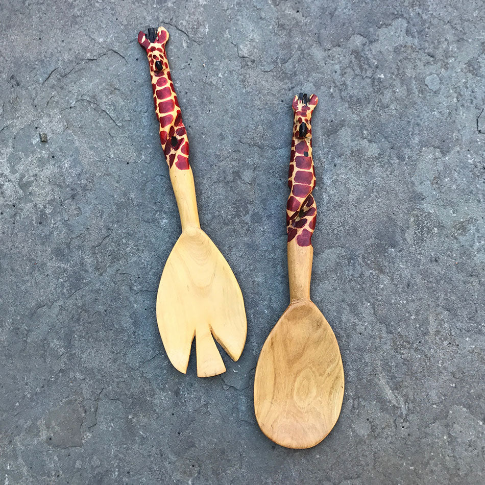 Handmade Fair Trade salad servers Kenya