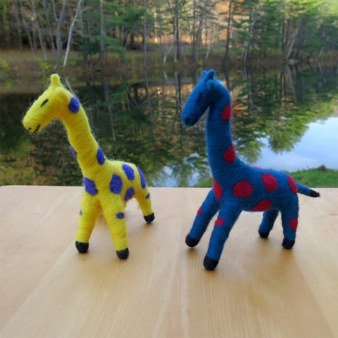 Fair trade giraffes handmade in Guatemala
