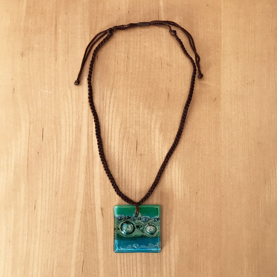 Fair trade glass necklace handmade by women in Guatemala