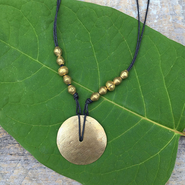 Over the Moon Necklace - Gold, Ethiopia