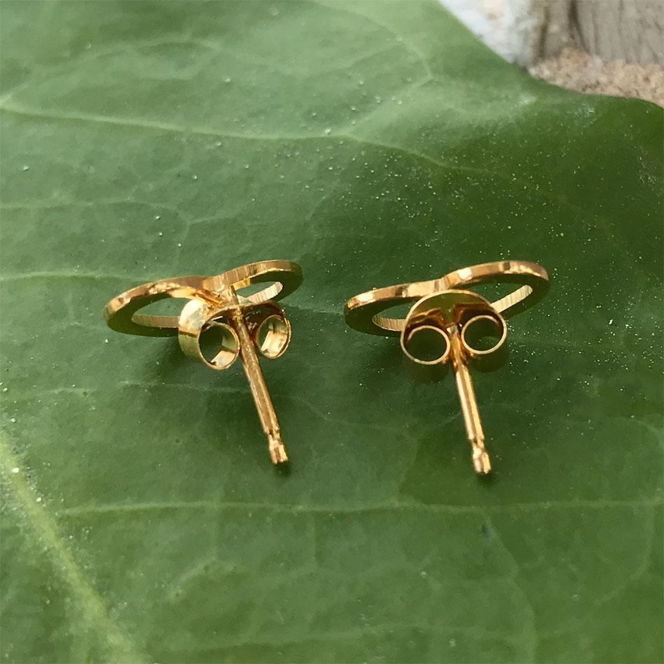 Fair trade gold stud earrings handmade in Mexico