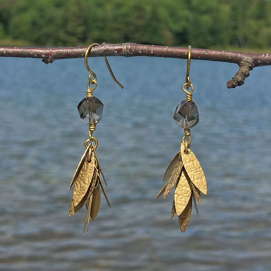 fair trade earrings handmade in India by survivors of human trafficking
