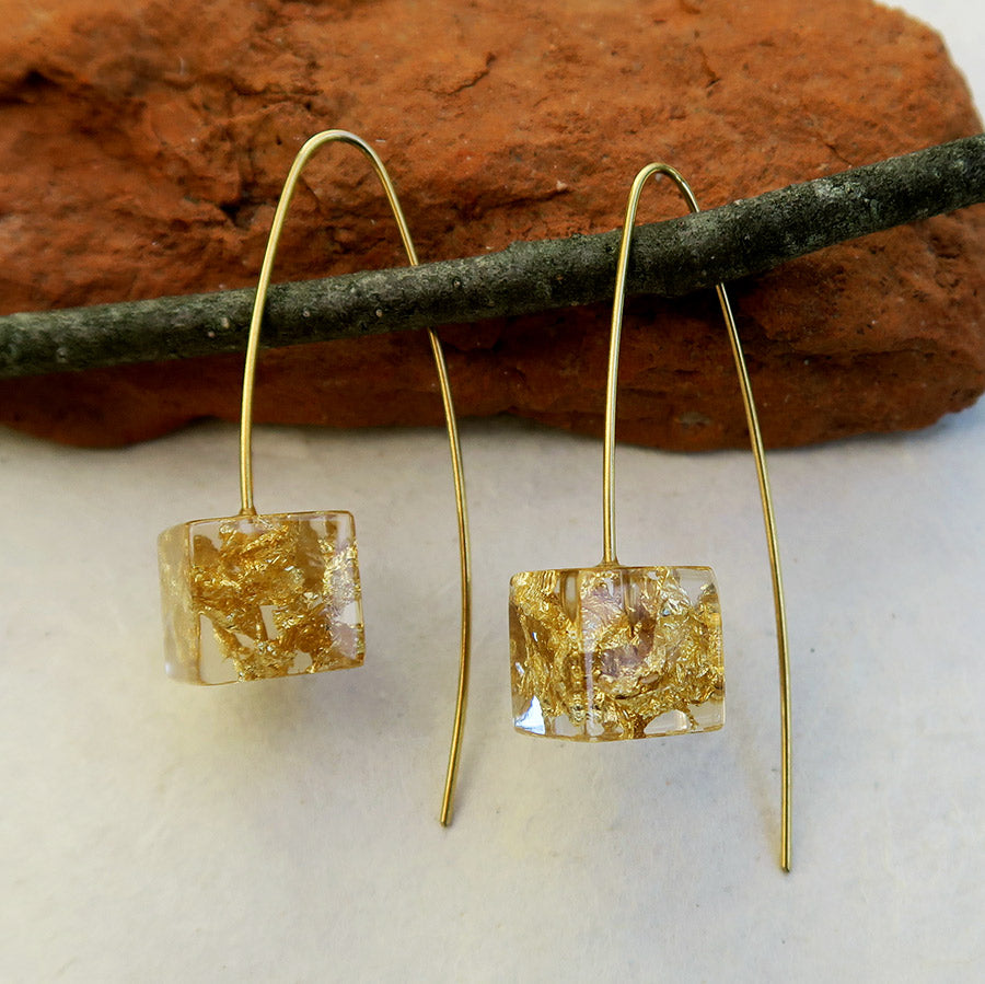 Fair trade resin earrings