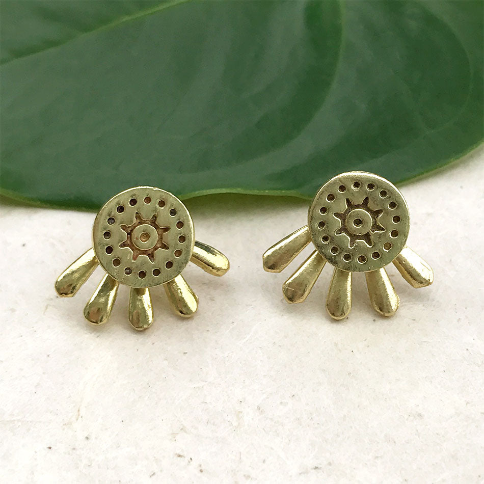 Fair trade studs ear jackets handmade by women in India