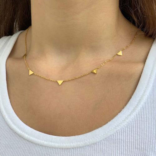 Fair trade minimalist necklace handmade by survivors of human trafficking.