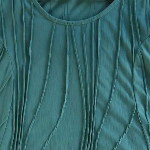 Cotton Pocket Tunic -Green, Nepal