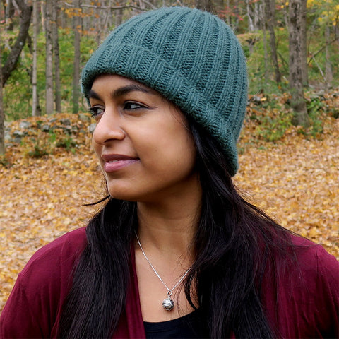 Fair trade alpaca hat handmade by women artisans in Peru